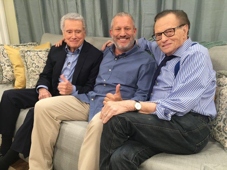 Scott Flansburg, Regis Philbin, and Larry King