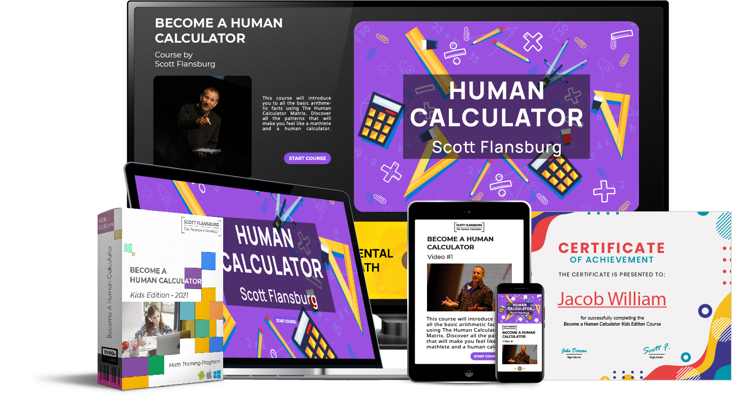Human Calculator Kid edition complete package